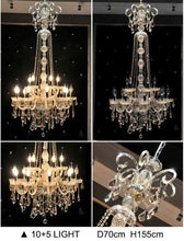 Load image into Gallery viewer, Luxurious long Crystal Chandelier - Murano Glass Art Style