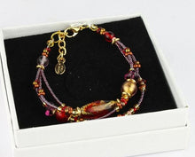Load image into Gallery viewer, AMY GOLD Bracelet - Murano glass with gold leaf - Murano Glass