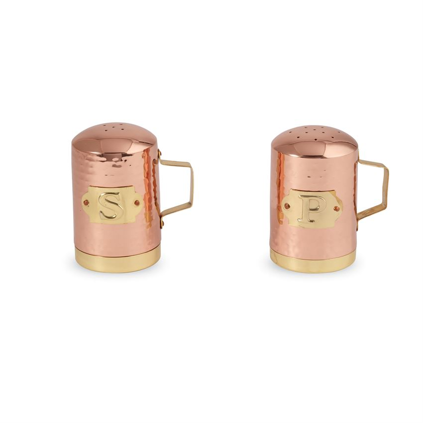Copper Salt + Pepper Shakers