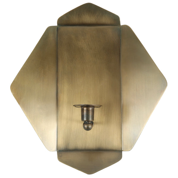Antique Brass Candle Wall Sconce