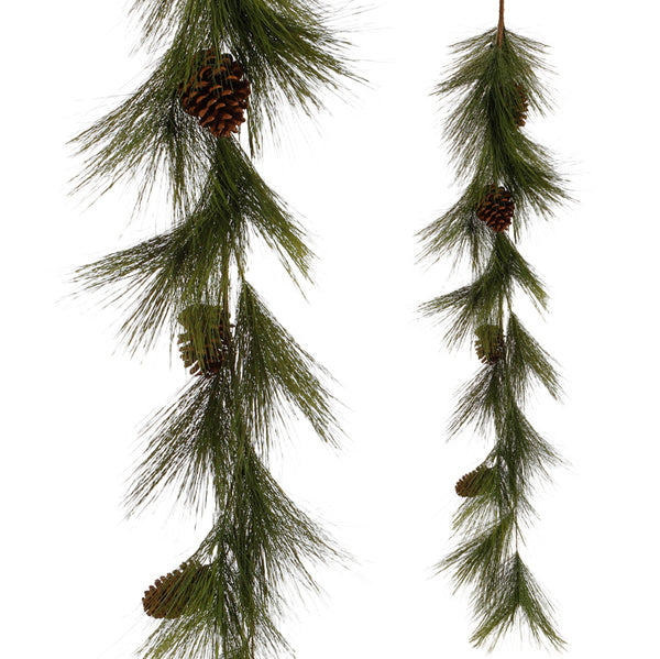 5' Faux Pine + Pine Cone Garland