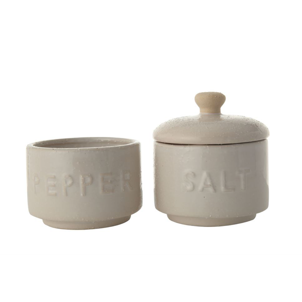 Salt + Pepper Stoneware