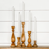 "4"" Wooden Taper Candlestick"