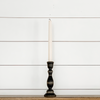 "7"" Black Wooden Taper Candlestick"