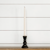"4"" Black Wooden Taper Candlestick"