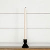 "2"" Black Wooden Taper Candlestick"