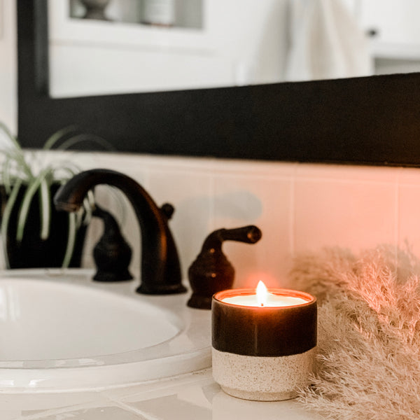 Luxe Candle In Black Two Tone Pot