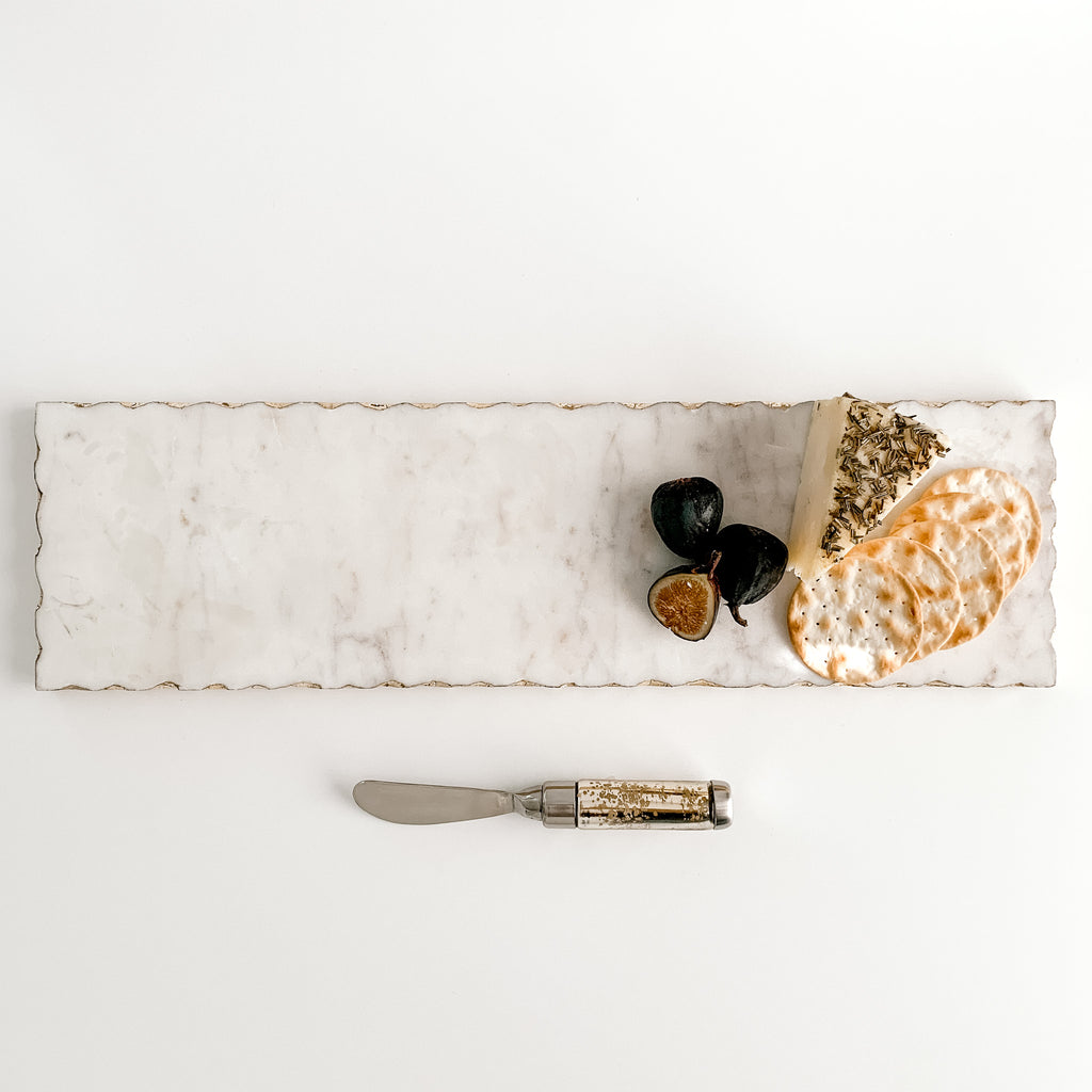 Marble + Gold Foil Serving Tray