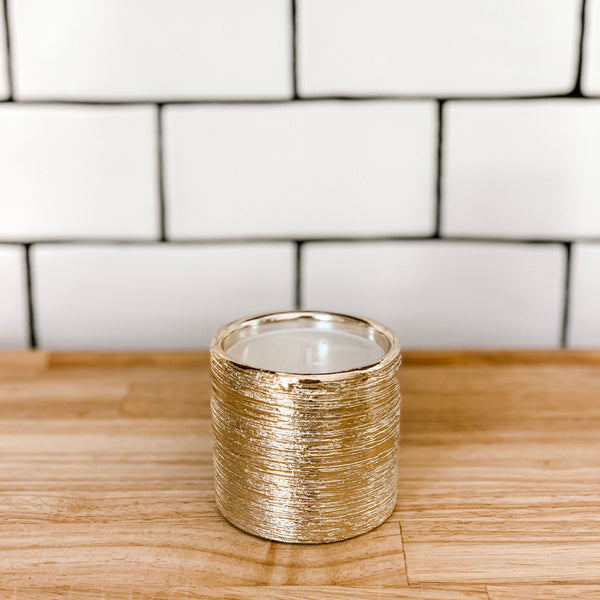 Etched Gold Cozy Candle