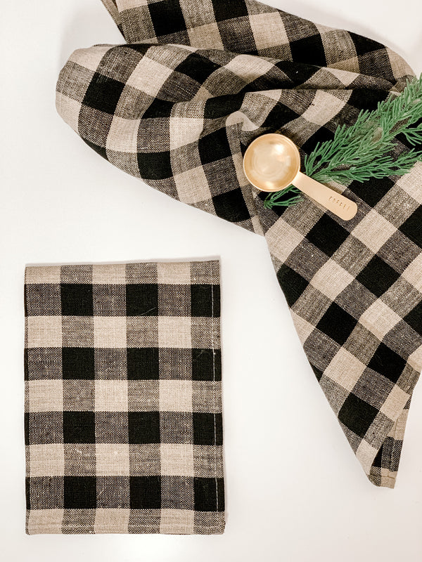 Buffalo Check Linen Towel
