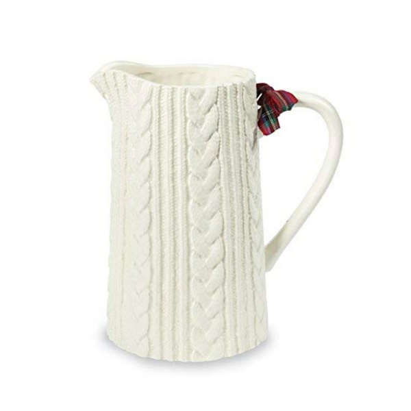 Ceramic Cable Knit Pitcher