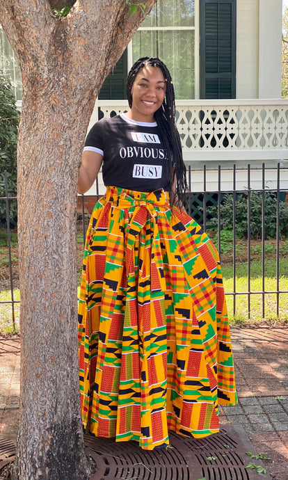 """Sasha"" African Flare Skirt with Pockets"