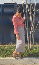 """Raquel"" Maxi Length Skirt w/Buttons"