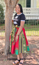 """Reese"" African Flare Skirt with Pockets"