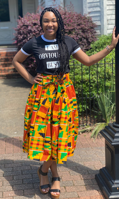 """NaTasha"" African Flare Skirt with Pockets"
