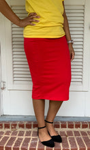 """Kelsey"" Pencil Skirt- Red (Plus Size Available)"