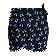 black-mini-blue-butterfly-swim-cover-up-pareo-skirt