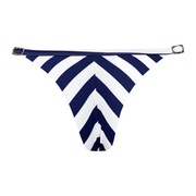Blue Navy Stripes Brazilian Thong Bikini Bottom