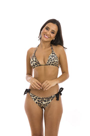 Jaguar Animal Print Brazilian Triangle Bikini Top