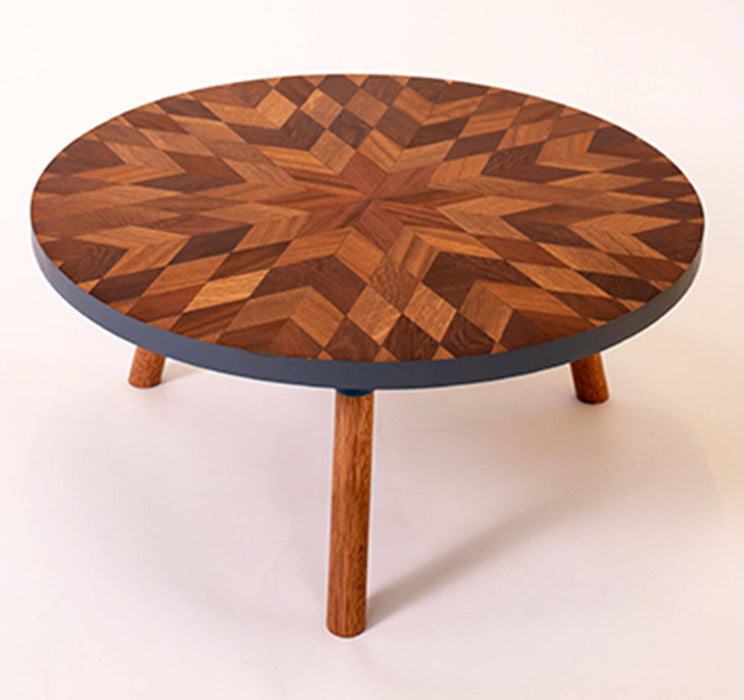 Kaowa Design Wooden Mosaic Table, Sunflower 60