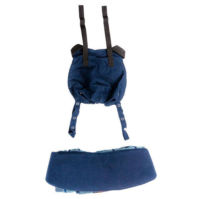 African Baby Carrier Denim Banana Leaf Original (Simple, Light weight for all occasions)