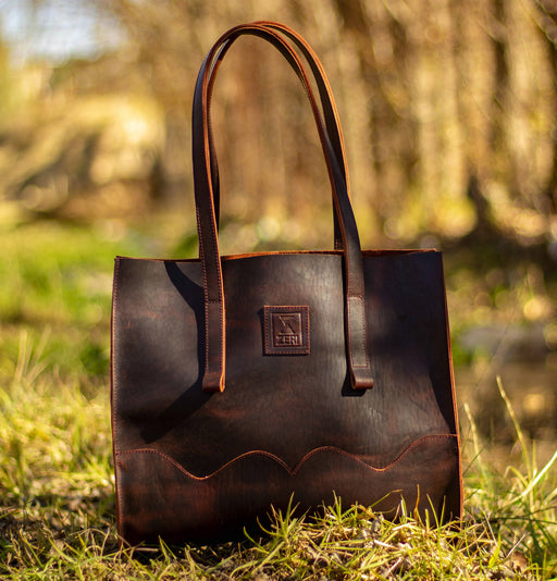 Zeri Leather Tote Bag
