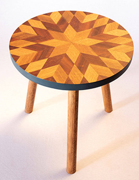 Kaowa Design Wooden Mosaic Table, Sunflower 40