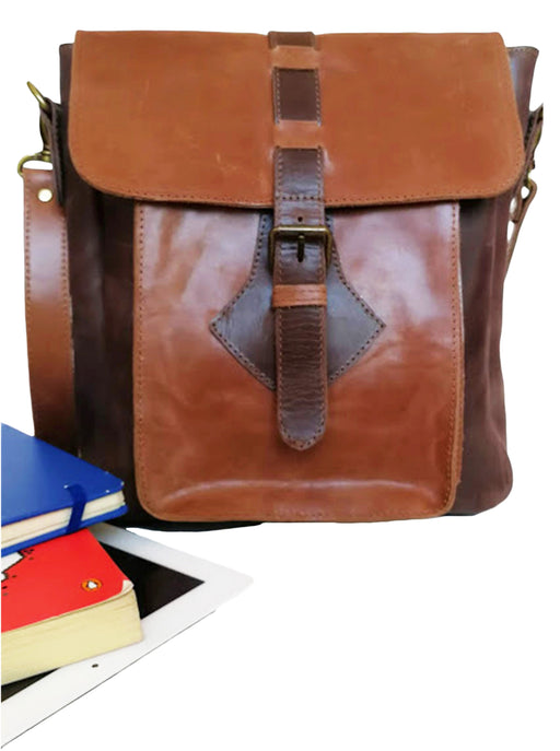Zeri Messenger Unisex Bag, Full Grain Ethiopian Leather