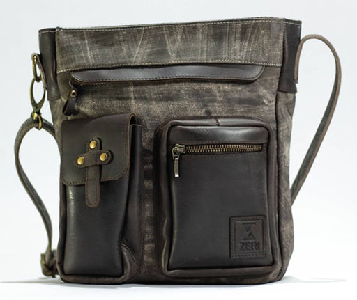 Zeri Leather Messenger Bag