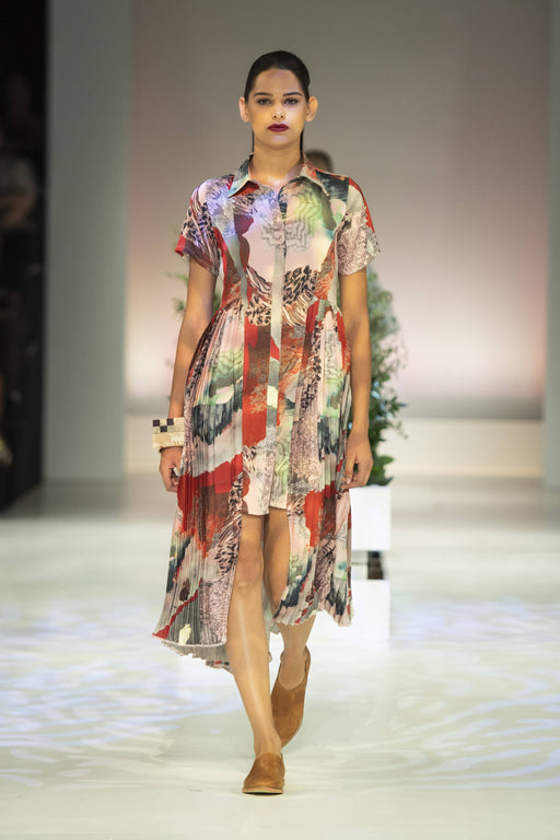 Danielle Frylinck Fortunova Satin Shirt Dress - Limited Edition For The Runway 2020 SA Fashion week
