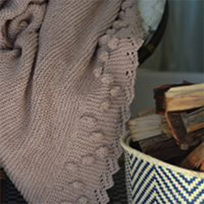 Blankets From Africa Bobble Lacy Edge Blanket, Shawl – Eco Cotton