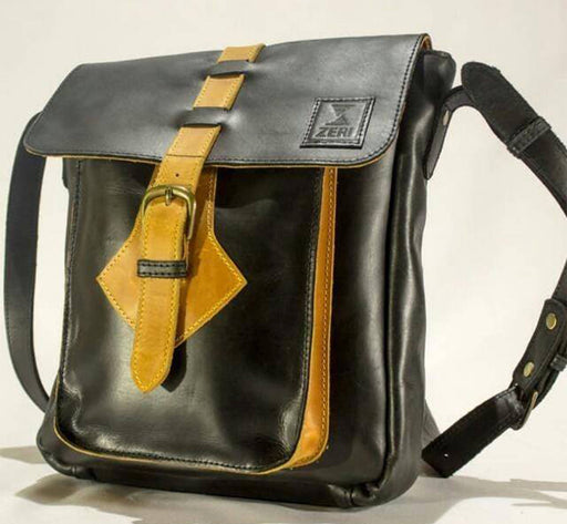 Zeri Leather Messenger Bag - Genuine Leather