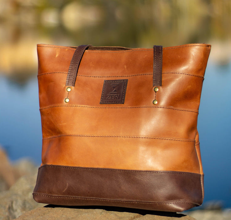 Zeri Leather Shopper Bag