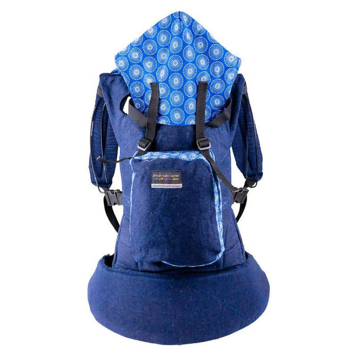 African Baby Carrier Denim-Shweshwe Original (Simple, Light weight for all occasions)