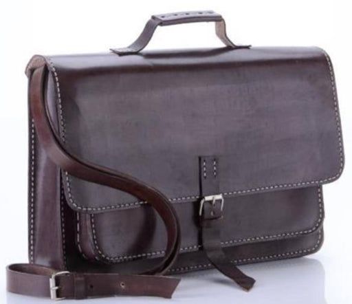Nanita Hand-Stitched Genuine Leather Briefcase