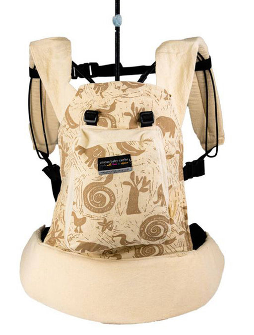 African Baby Carrier Hemp Animal Print Original (Simple, Light weight for all occasions)