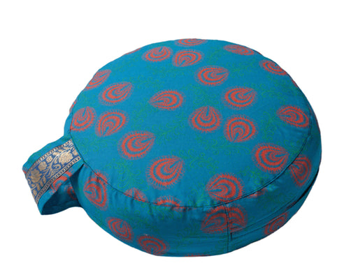Simply Shweshwe Zafu Meditation Cushion, Azure Plume