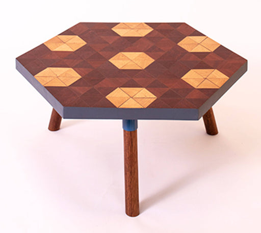 Kaowa Design Wooden Mosaic Table, Beehome 60