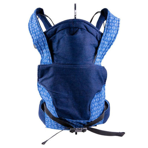 African Baby Carrier Newborn, Denim Shweshwe