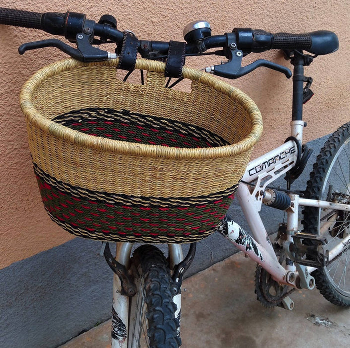 AfricanheritageGH Handwoven Bicycle Basket