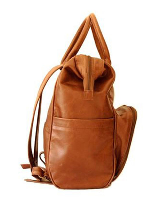 Mally The Bambino Leather Diaper Backpack