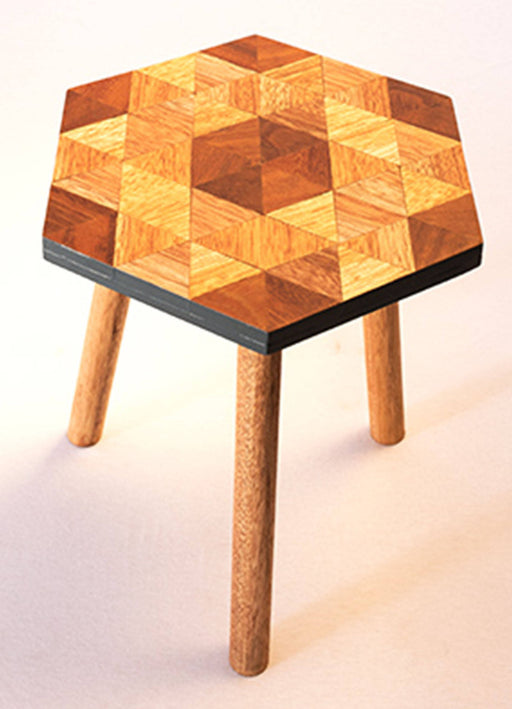 Kaowa Design Wooden Mosaic Table, Honey 40