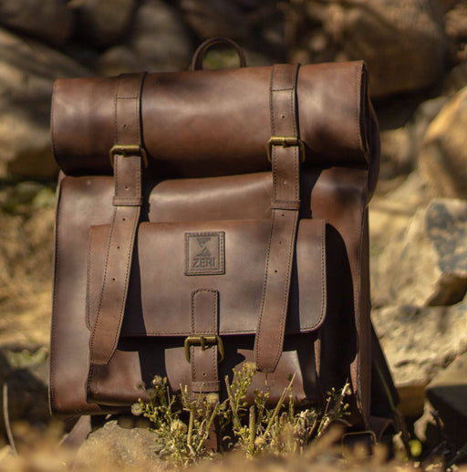 Zeri Handmade Vintage Leather Backpack