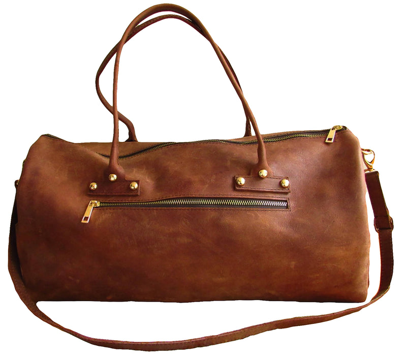 Root in Style Genuine Leather Duffle Bag