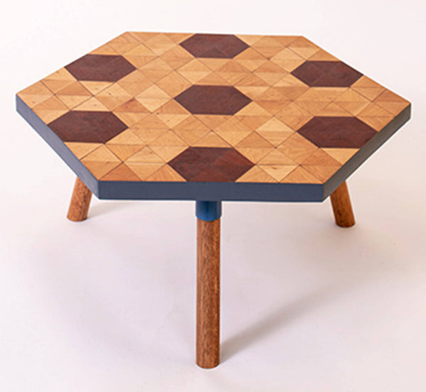 Kaowa Design Wooden Mosaic Tables, Honey 60