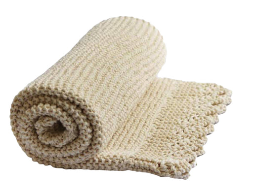 Lacy Edge Blanket, Shawl – Eco Cotton