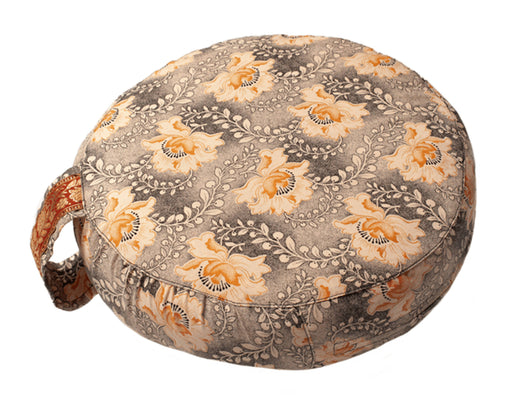 Simply Shweshwe Zafu Meditation Cushion, Serenity Bloom