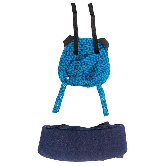 African Baby Carrier Denim-Shweshwe Original (Simple Light weight for all occasions)