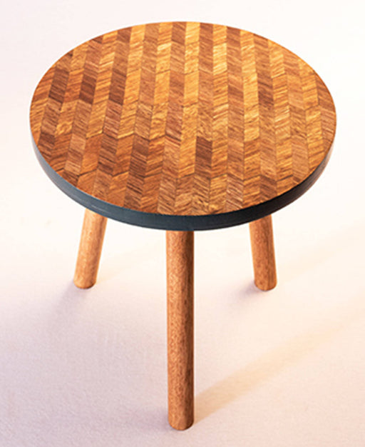 Kaowa Design Wooden Mosaic Table, Wave 40