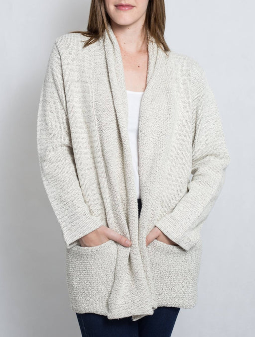 Cotton Girls Long Sleeved Knit Cardigan Sweater With Pockets